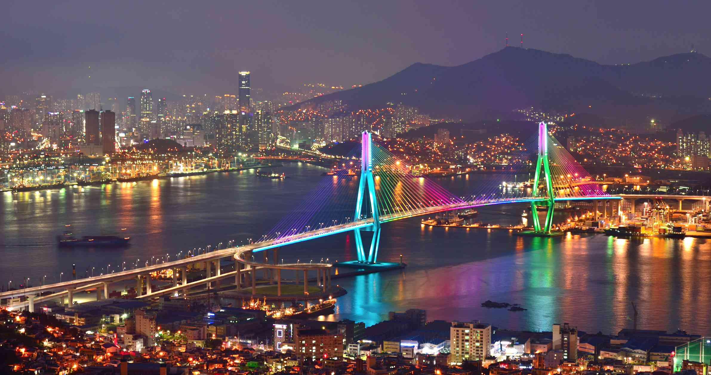Night view of Busan, South Korea