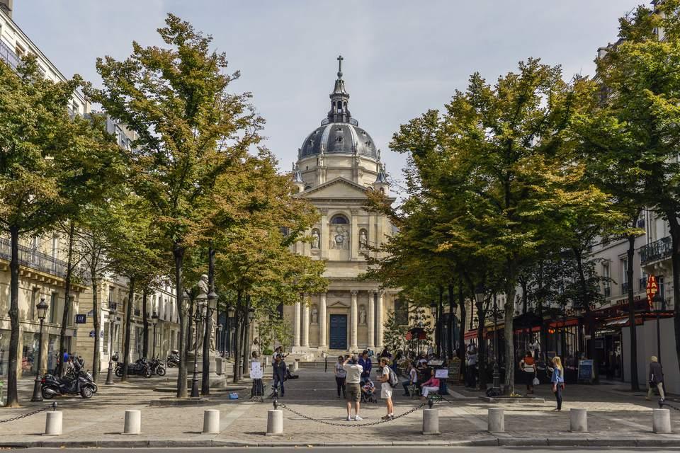 Université de la Sorbonne, Place de la Sorbonne, Latin Quarter, Paris, France, Europe