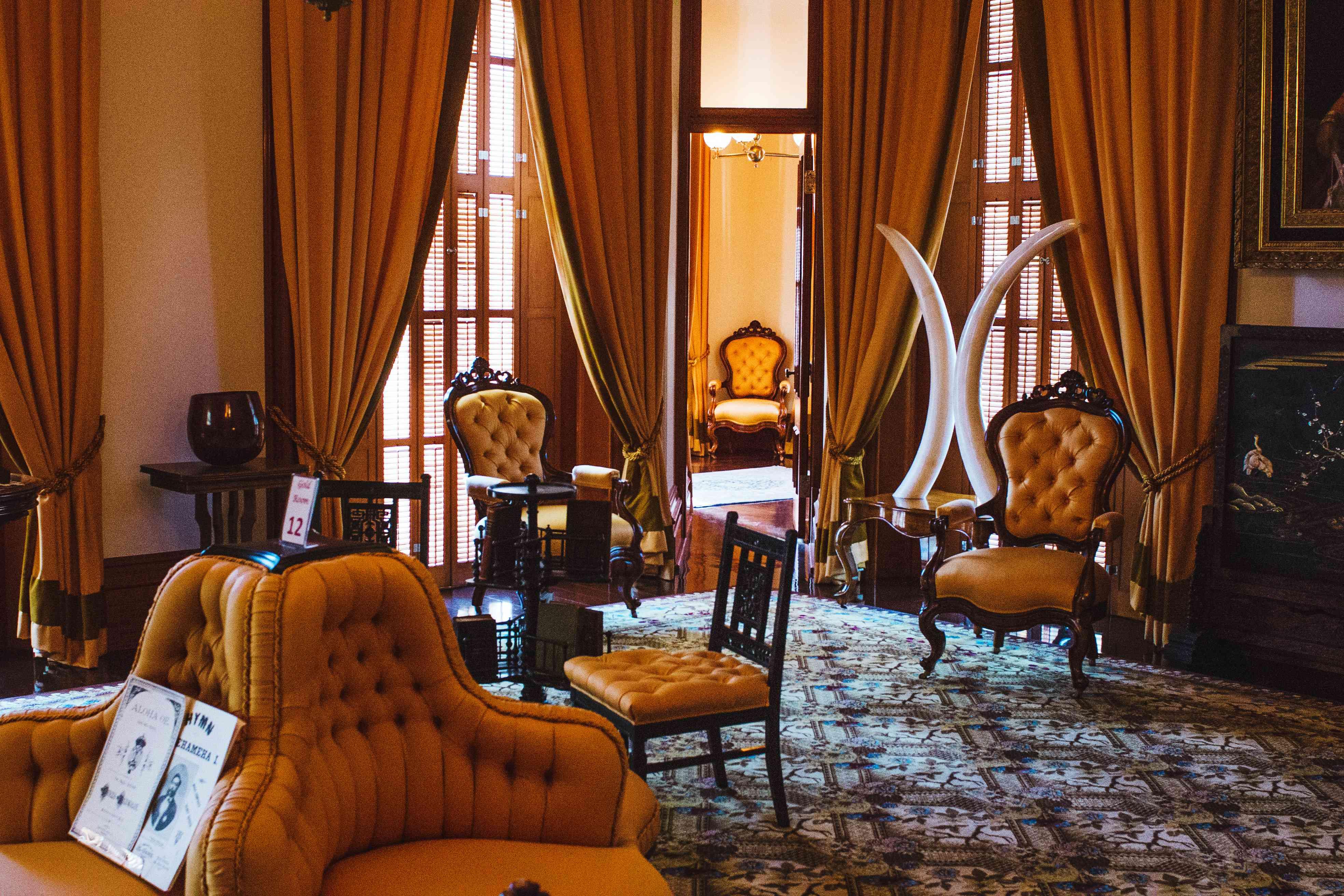 Inteiror room at Iolani Palace