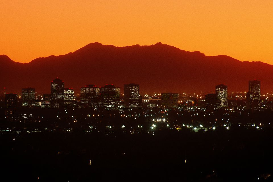 Phoenix Arizona at sundown