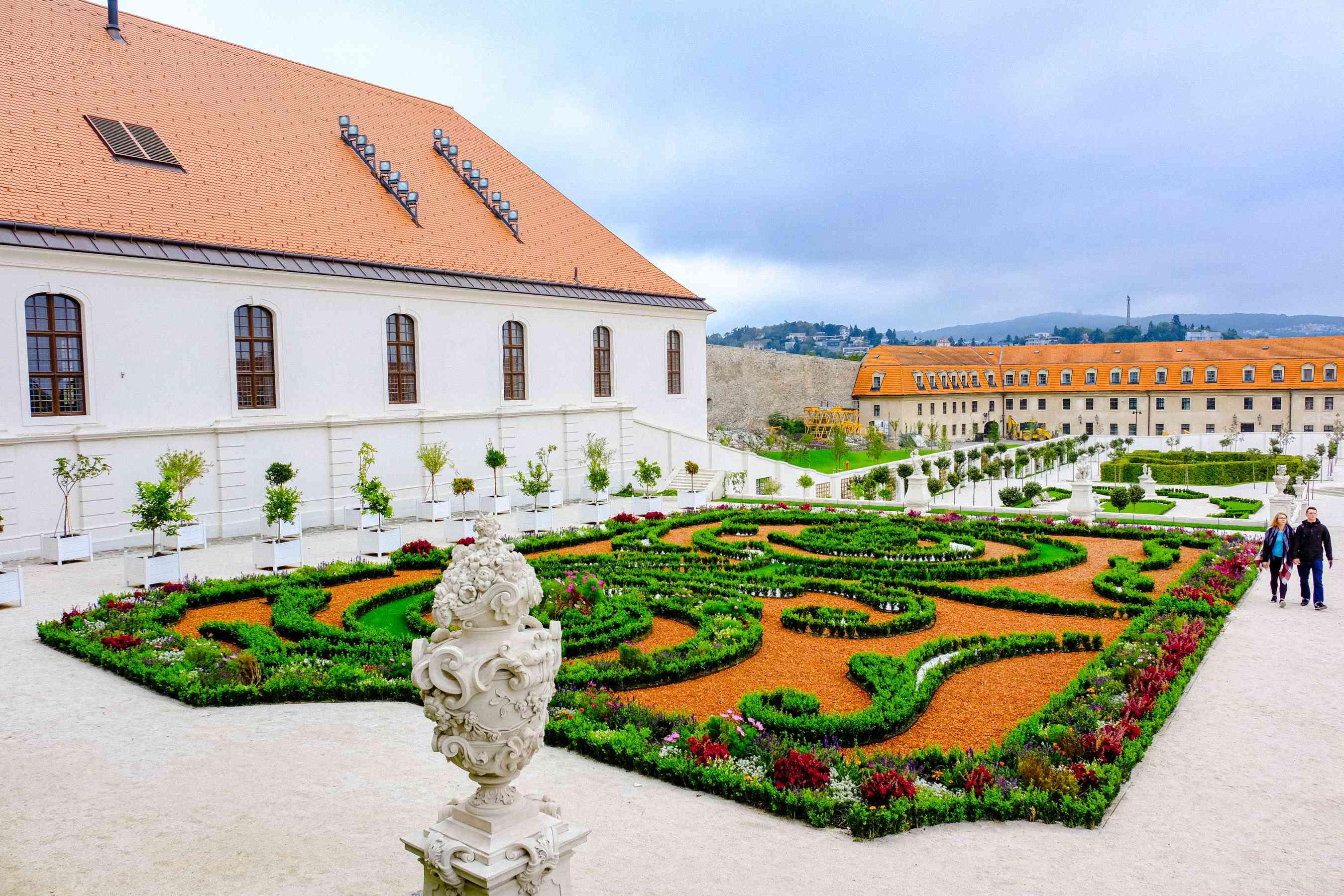 Gardens outside of the Bratislava Castle