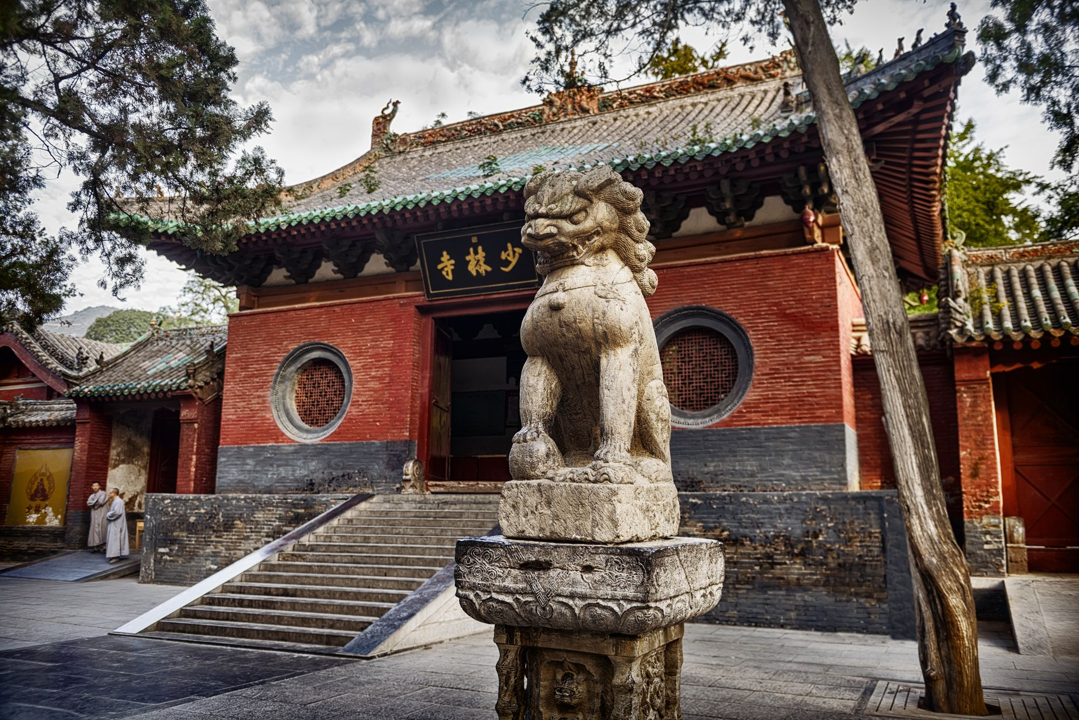 Dragon sculpture in front of the Shaolin Temple in DengFeng, Zhengzhou, Henan Province, China