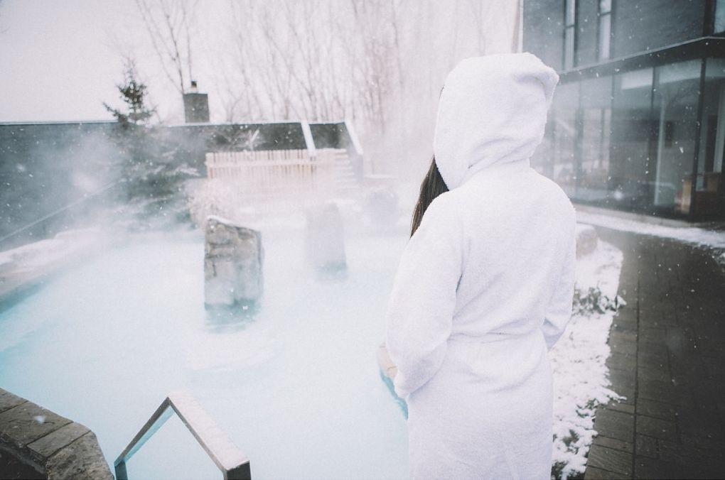 Thermal baths at Strøm Spa Nordique