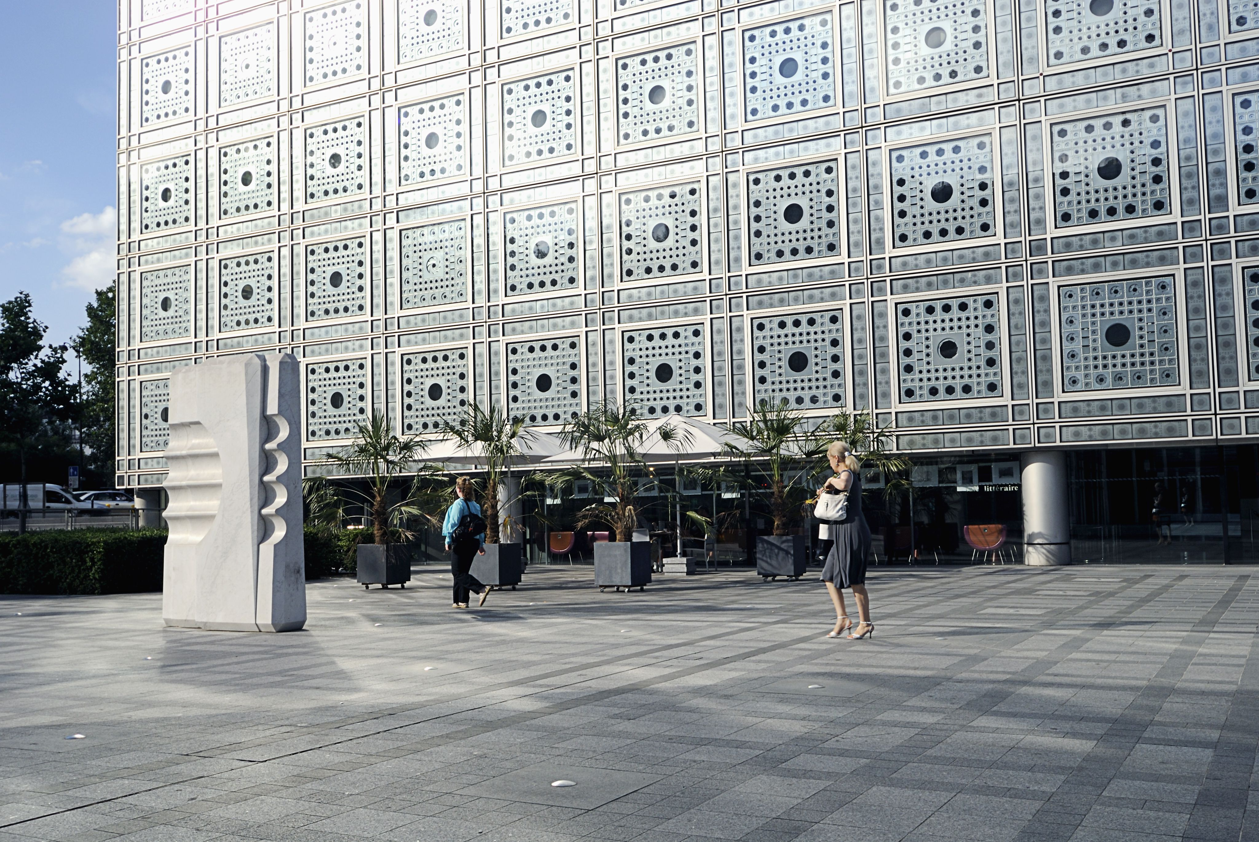 The Institut du Monde Arabe is one of Paris' loveliest buildings, inspired by Middle Eastern design.