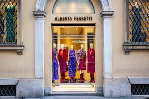 Storefront in the Quadrilatero d'Oro in Milan, Italy