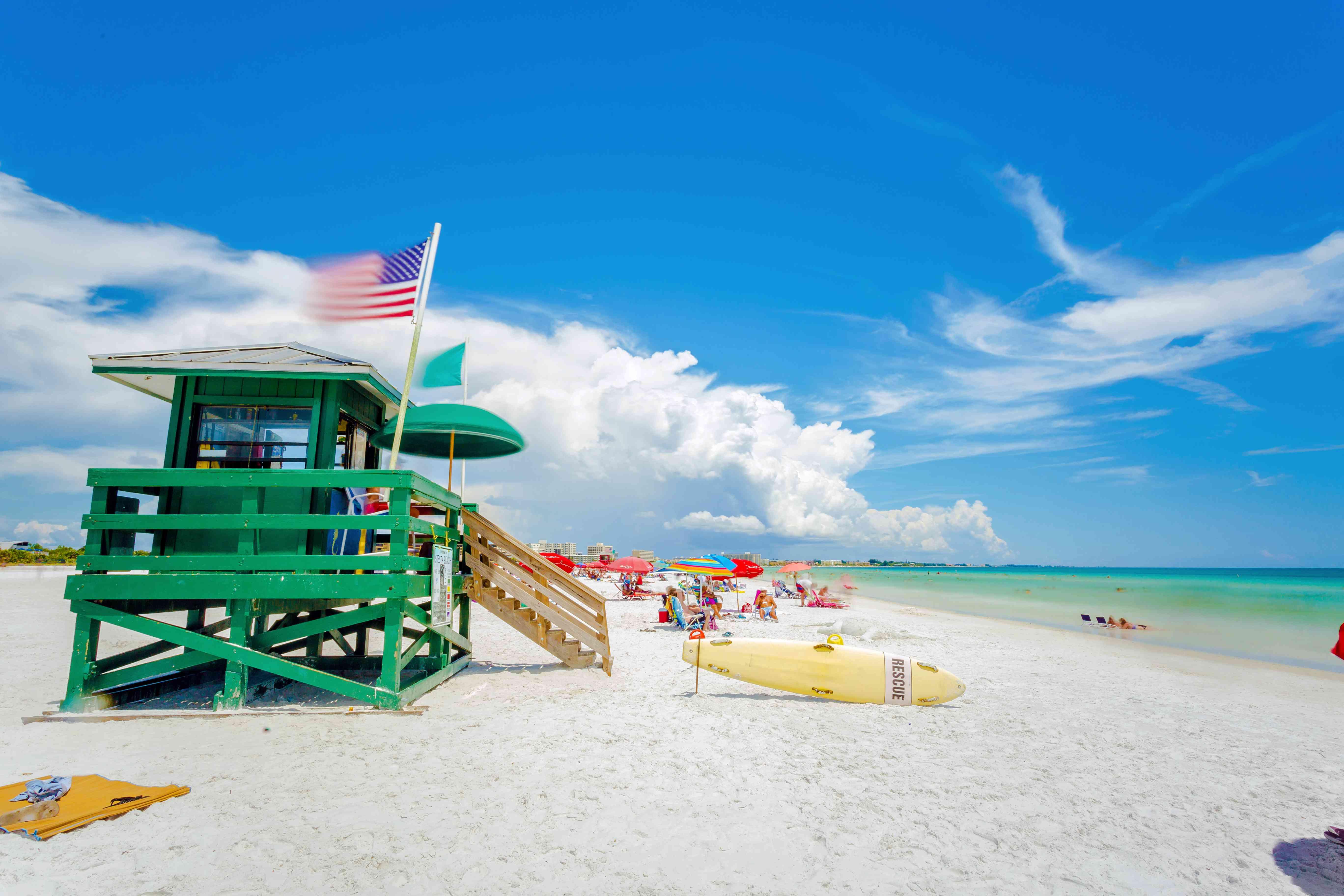 Siesta Key Beach en Sarasota, Florida, EE. UU.