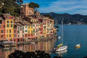 Boats Moored in Portofino, Italy