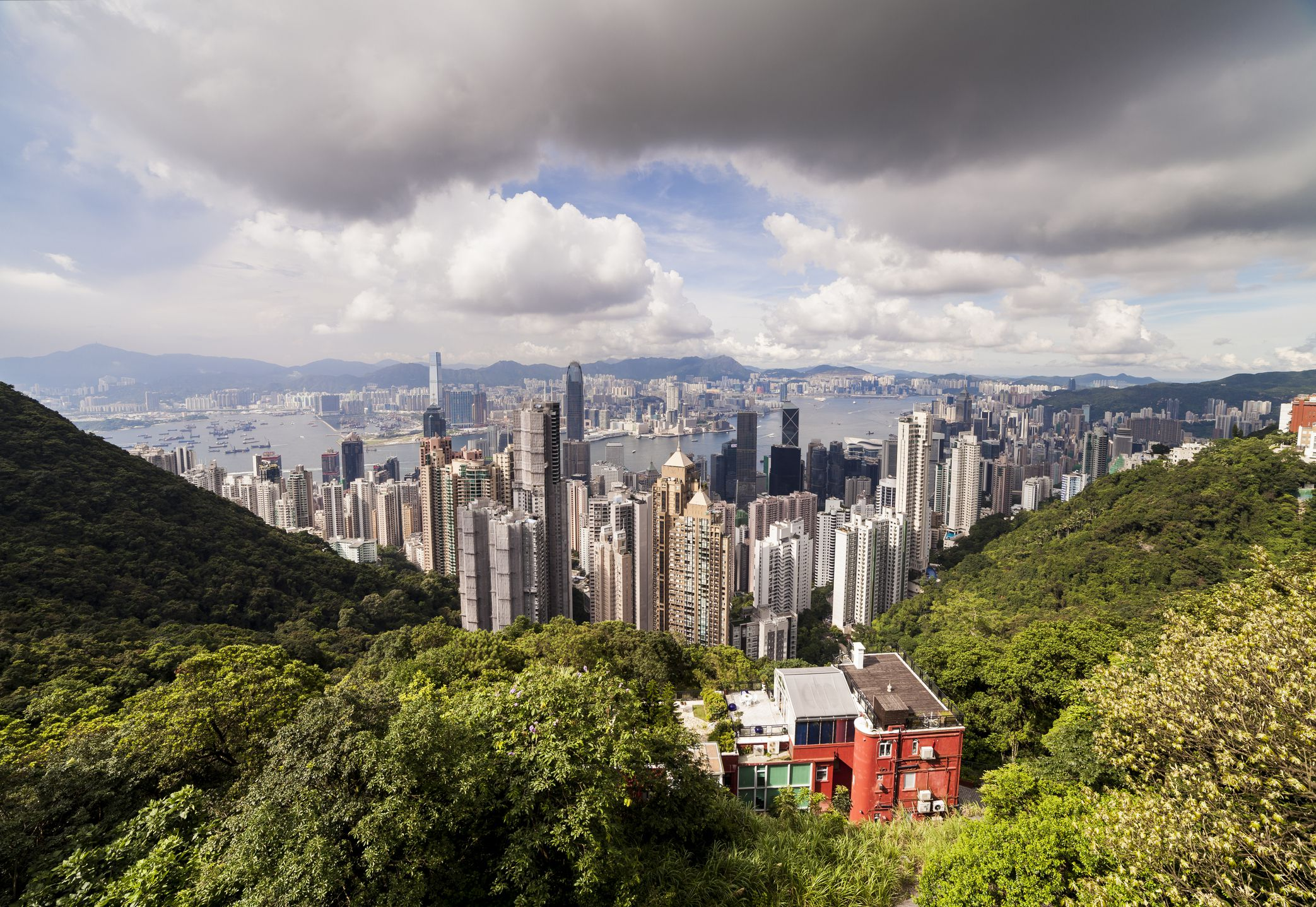 Skyline de la ciudad de Hong Kong