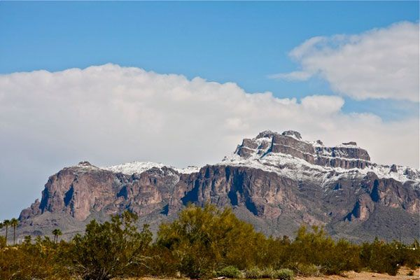 Snowy Superstition Mountains