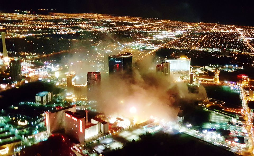 Riviera Implosion from Helicopter