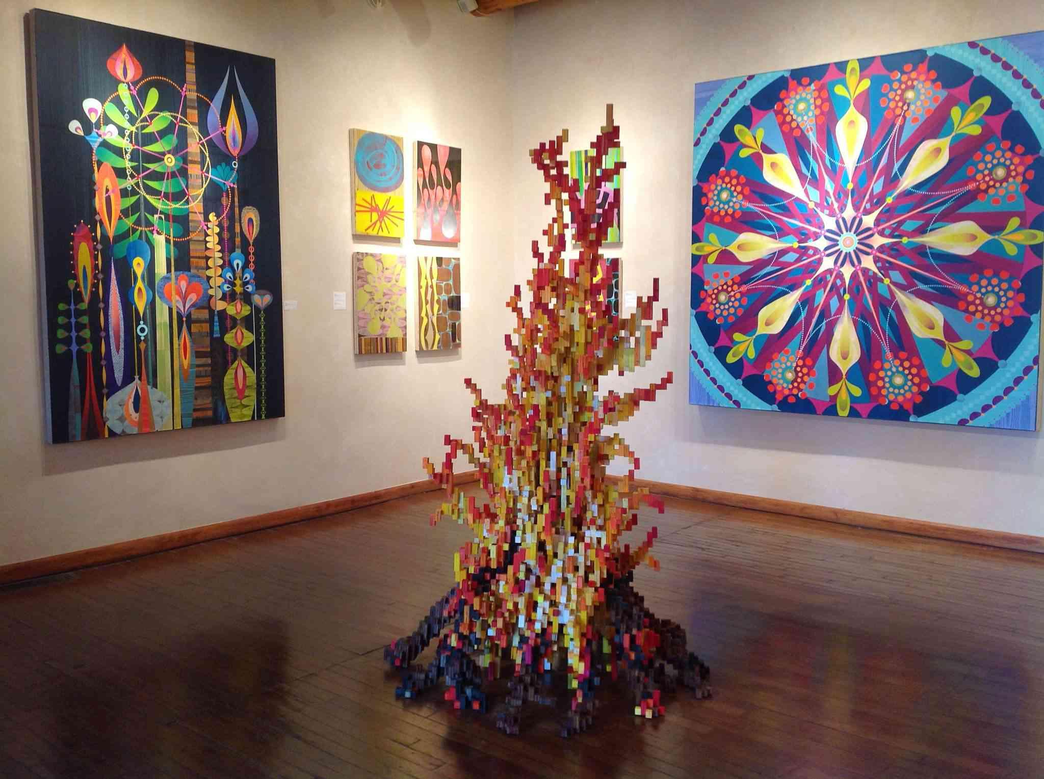 Coloful contemporary art on display at Santa Fe's Turner Carroll Gallery
