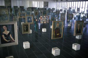 Works by Modigliani and others in the Museu de Arte de Sao Paulo, Brazil, circa 1990.