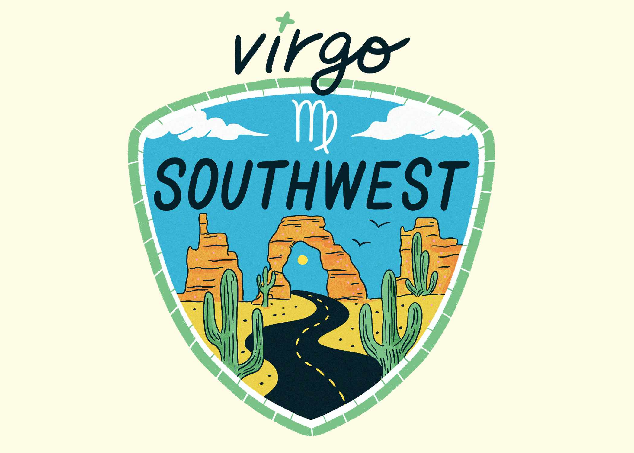 An illustration of the Southwest for Virgo