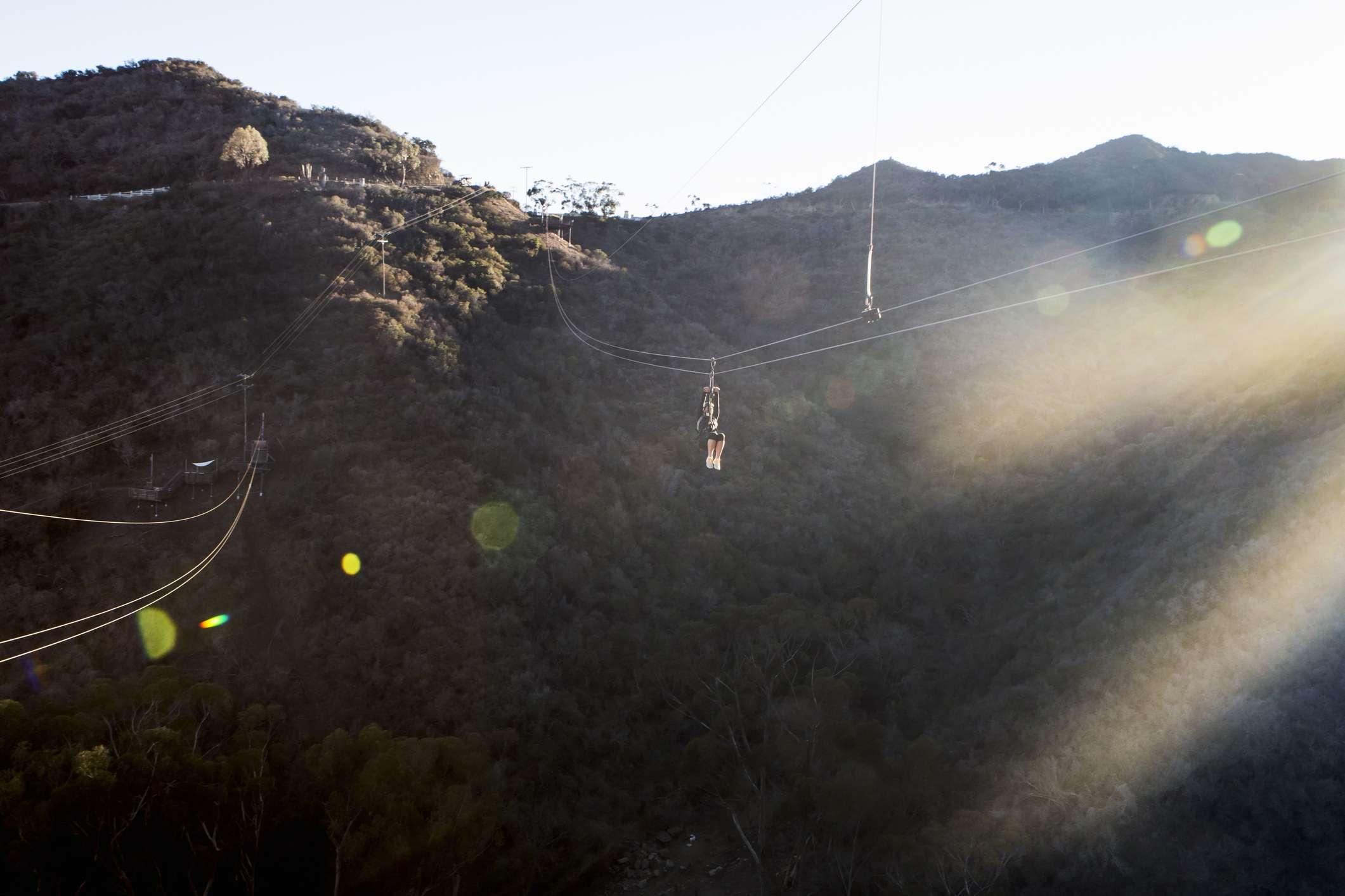 The Catalina Island Zip Line.