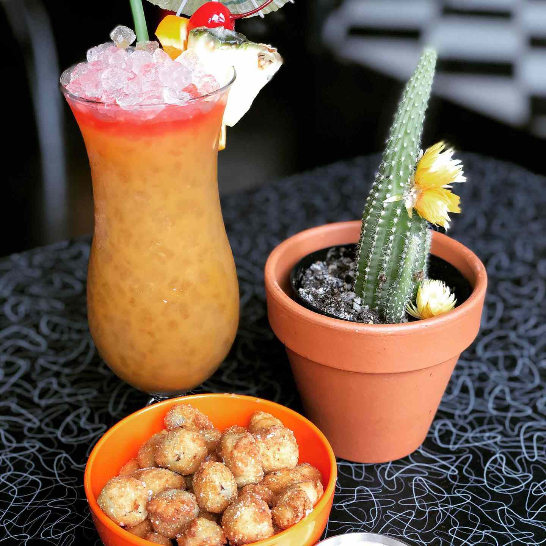 Fried Okra, a hurricane, and a cactus