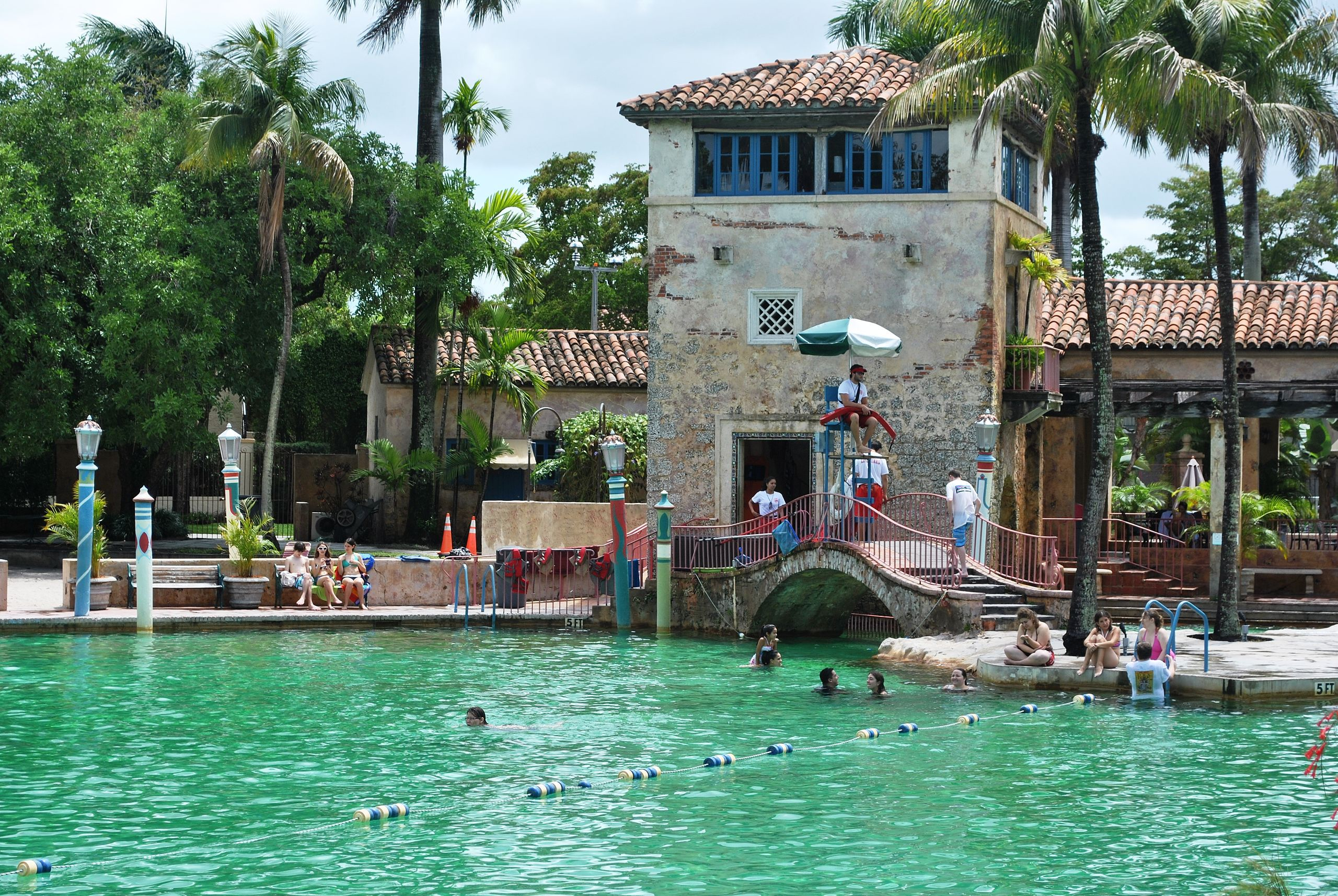 The coral gables Venetian pool in Florida