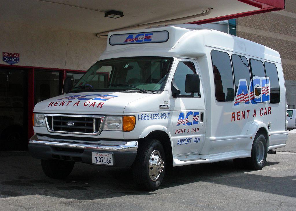 Ace rent a car van