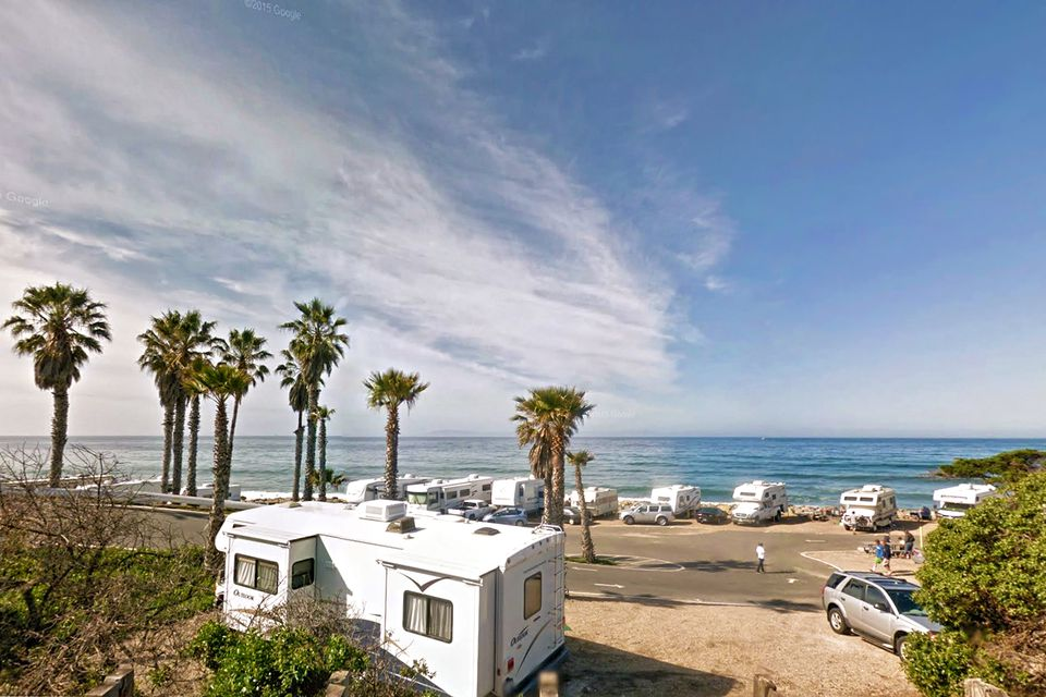 Camping at Faria County Beach