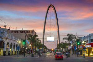 Tijuana Avenida Revolucion with the millennial arch