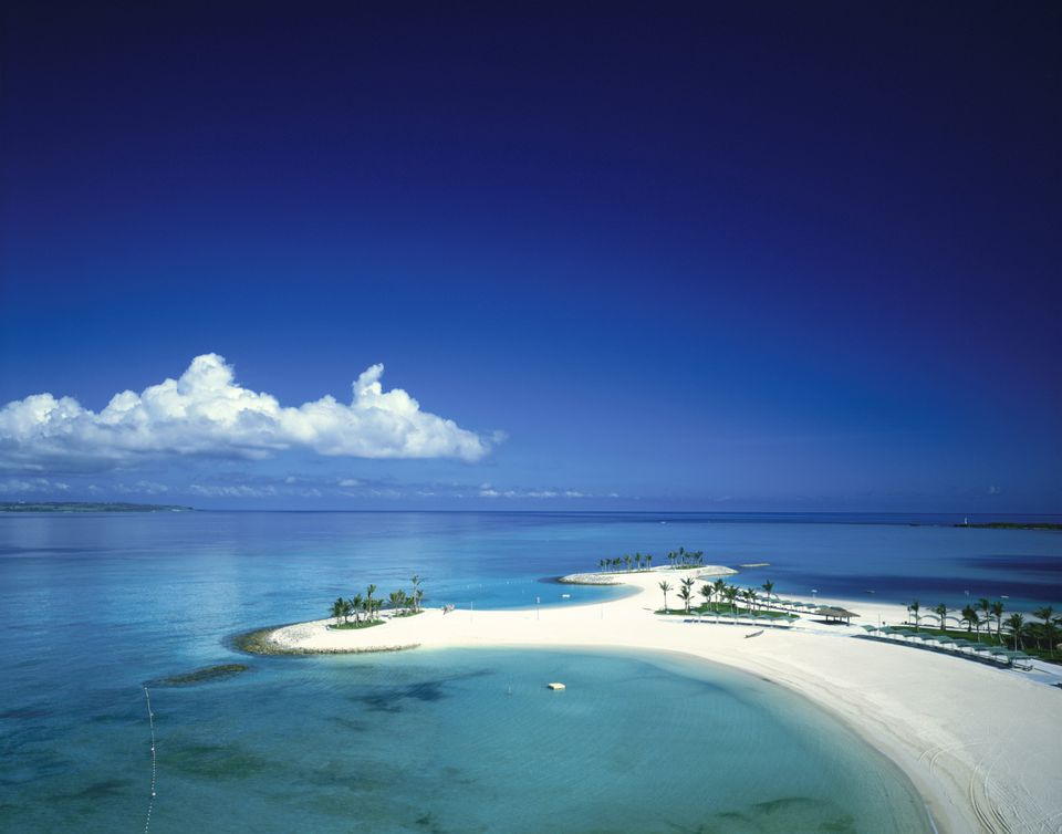 apan, Okinawa Prefecture, Emerald Beach, Beach, high angle view