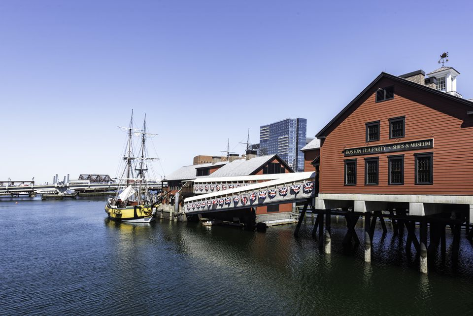 view of the Boston Tea Party Ships and Museum