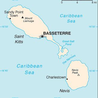 Saint Kitts and Nevis map