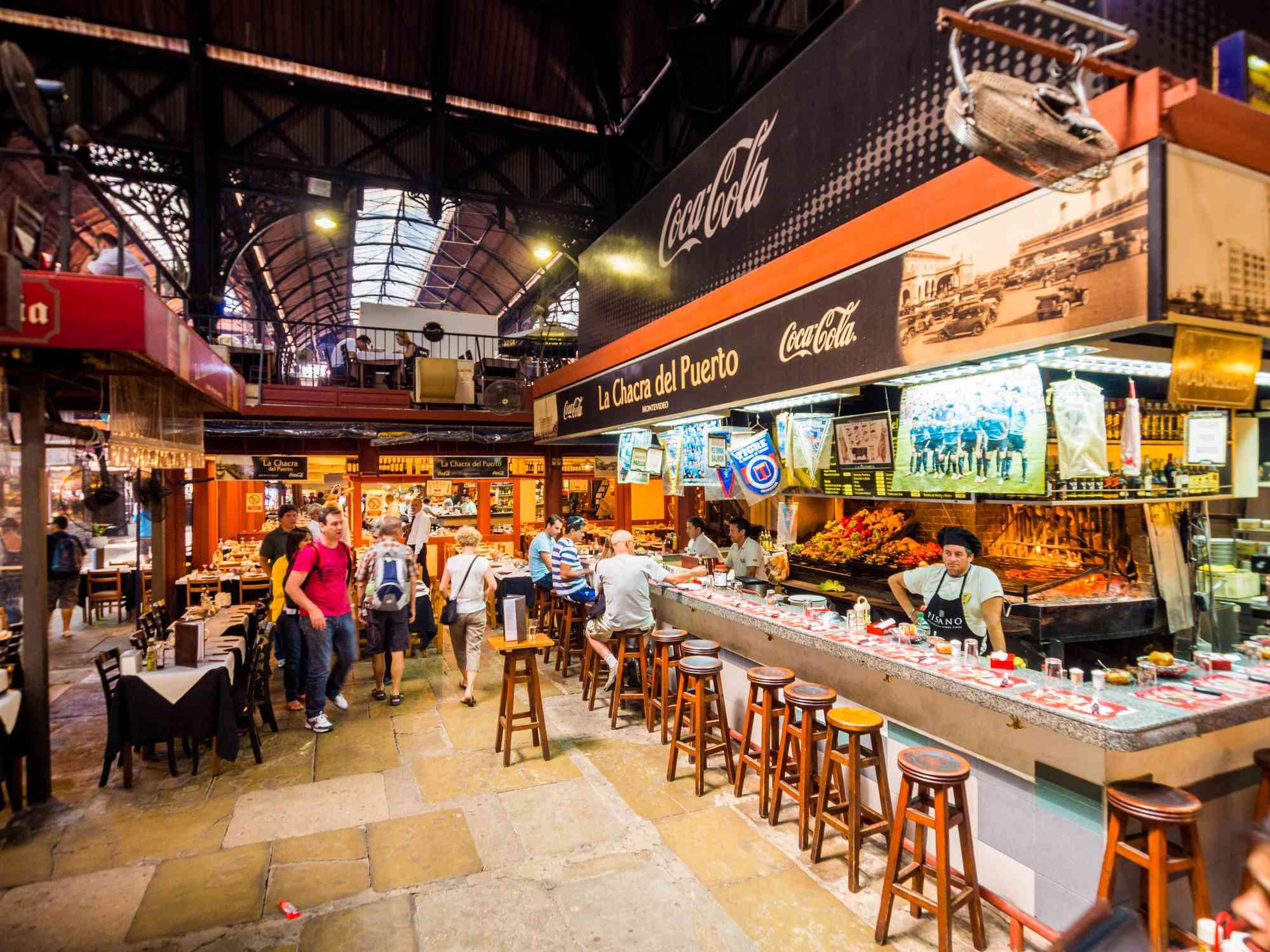 Mercado del Puerto in Montevideo, Uruguay