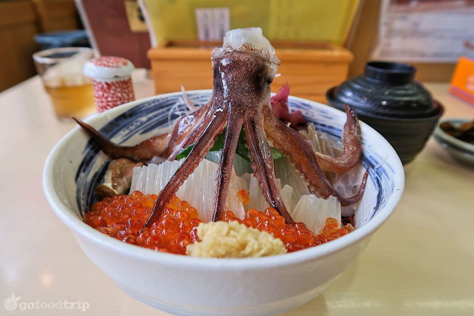dancing squid in a Japanese prepared dish