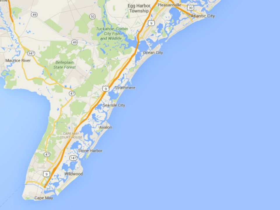 Map Of South Jersey S