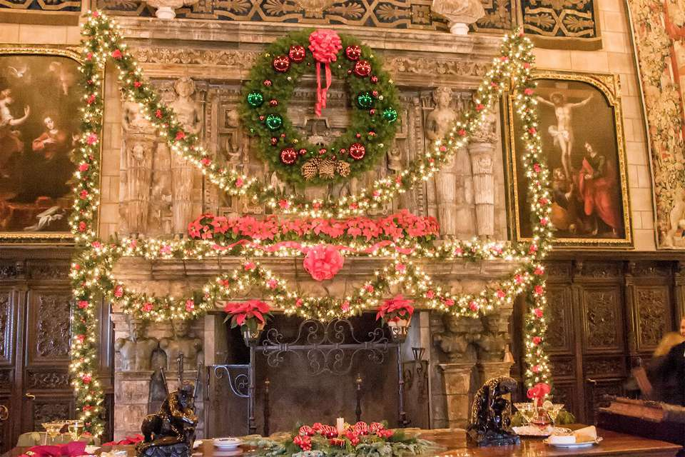 Fireplace Wreath, Hearst Castle