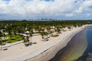 Aerial shot of Crandon Beach Park
