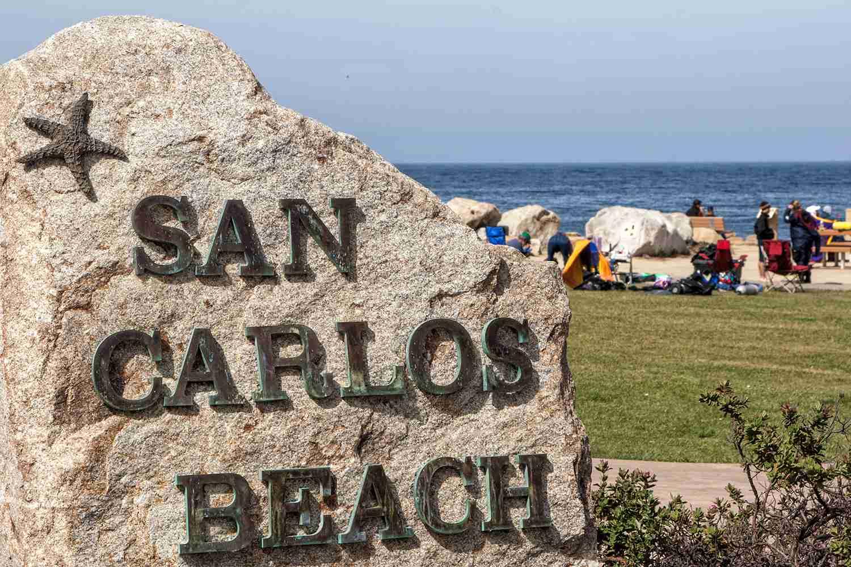 San Carlos Beach in Monterey