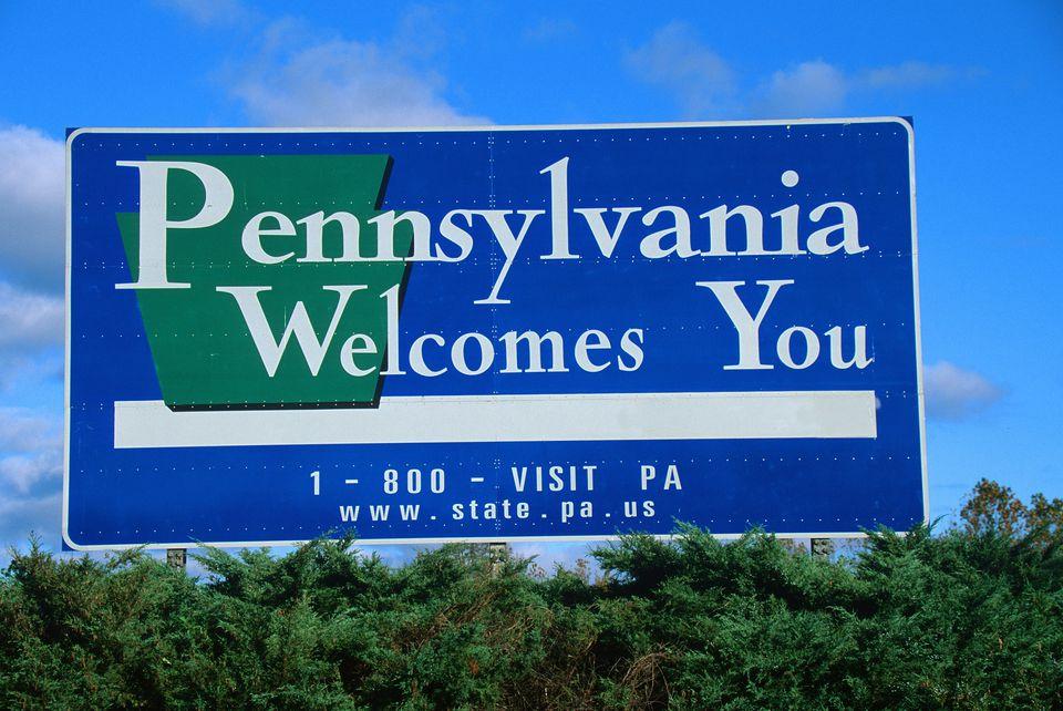 Bienvenido a Pennsylvania Sign