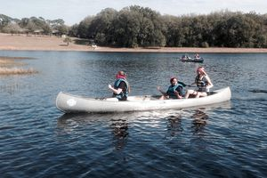 Students Paddle Blindfolded