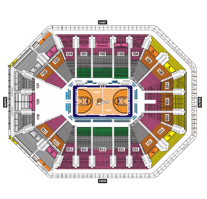 Talking Stick Resort Arena Seating Chart For Phoenix Suns