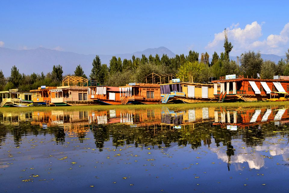 Houseboats on Nigeen Lake, Srinagar.