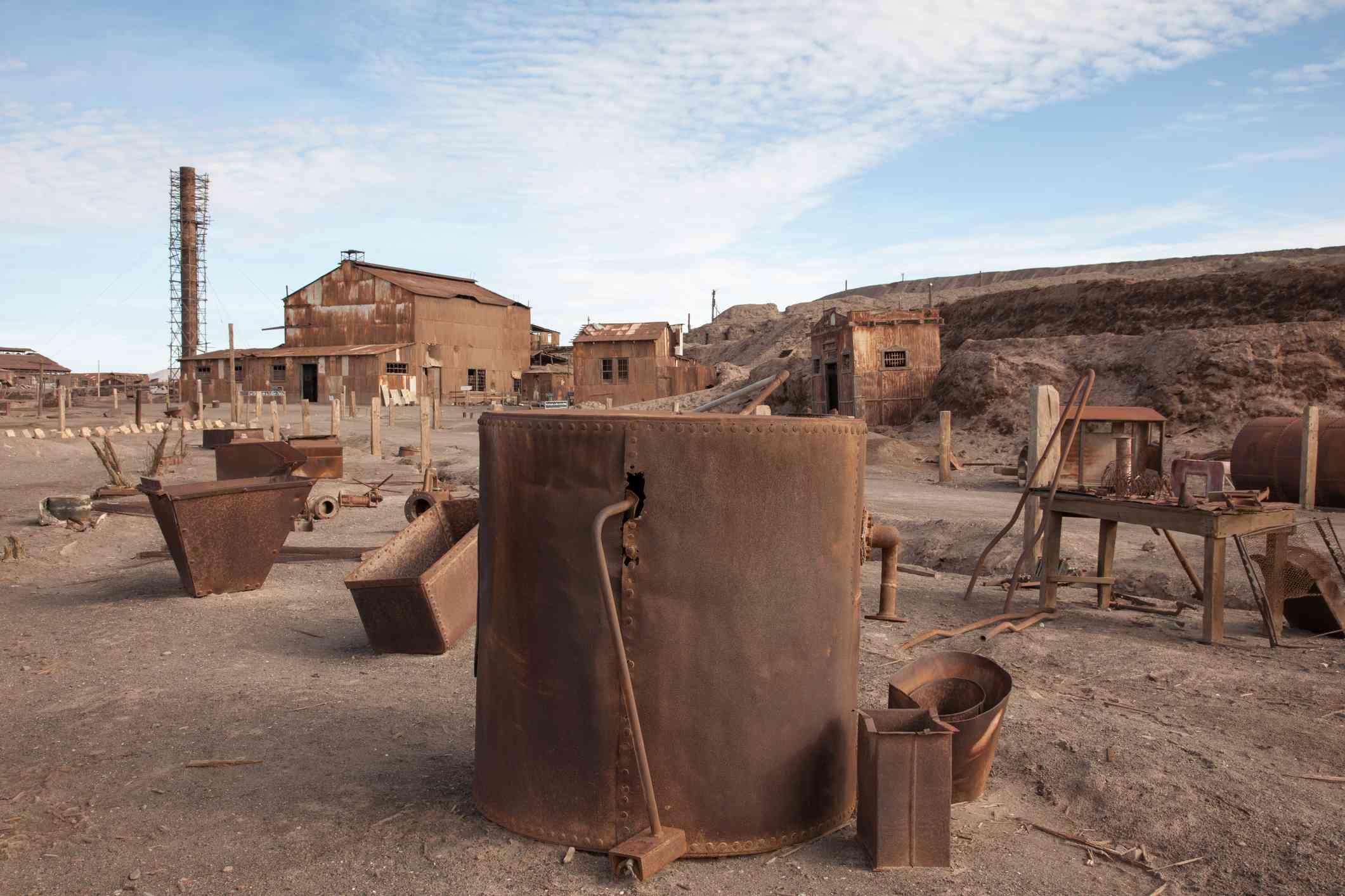 Humberstone ghost town, near Iquique, Tarapaca, Chile.