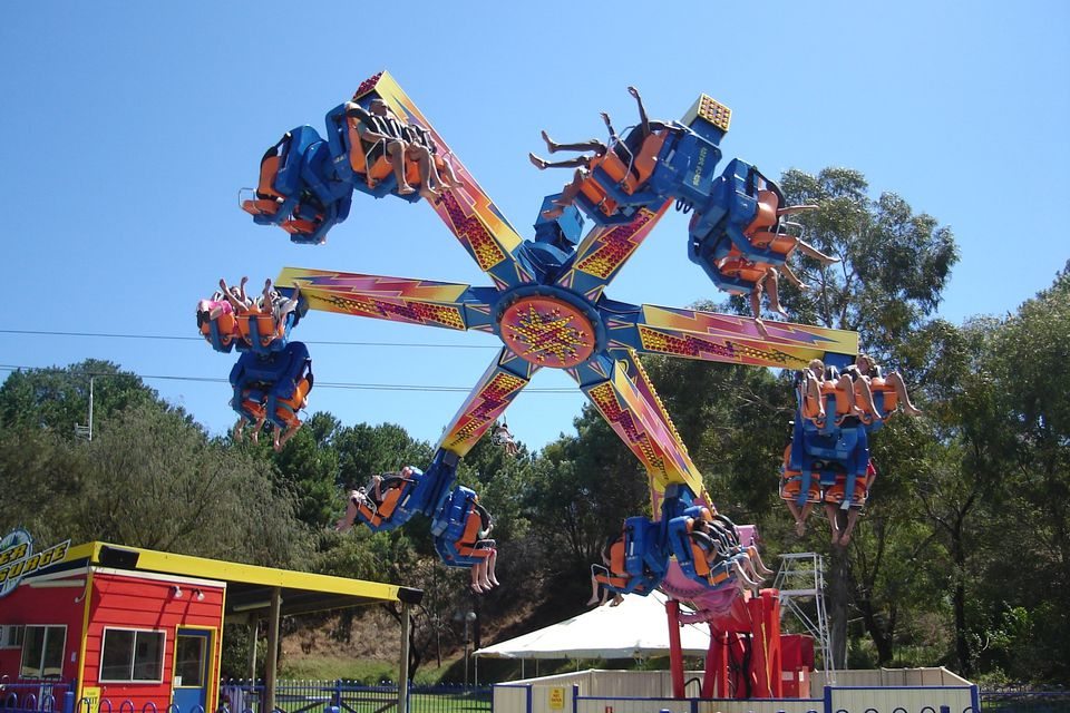The Power Surge ride at Adventure World, Perth.