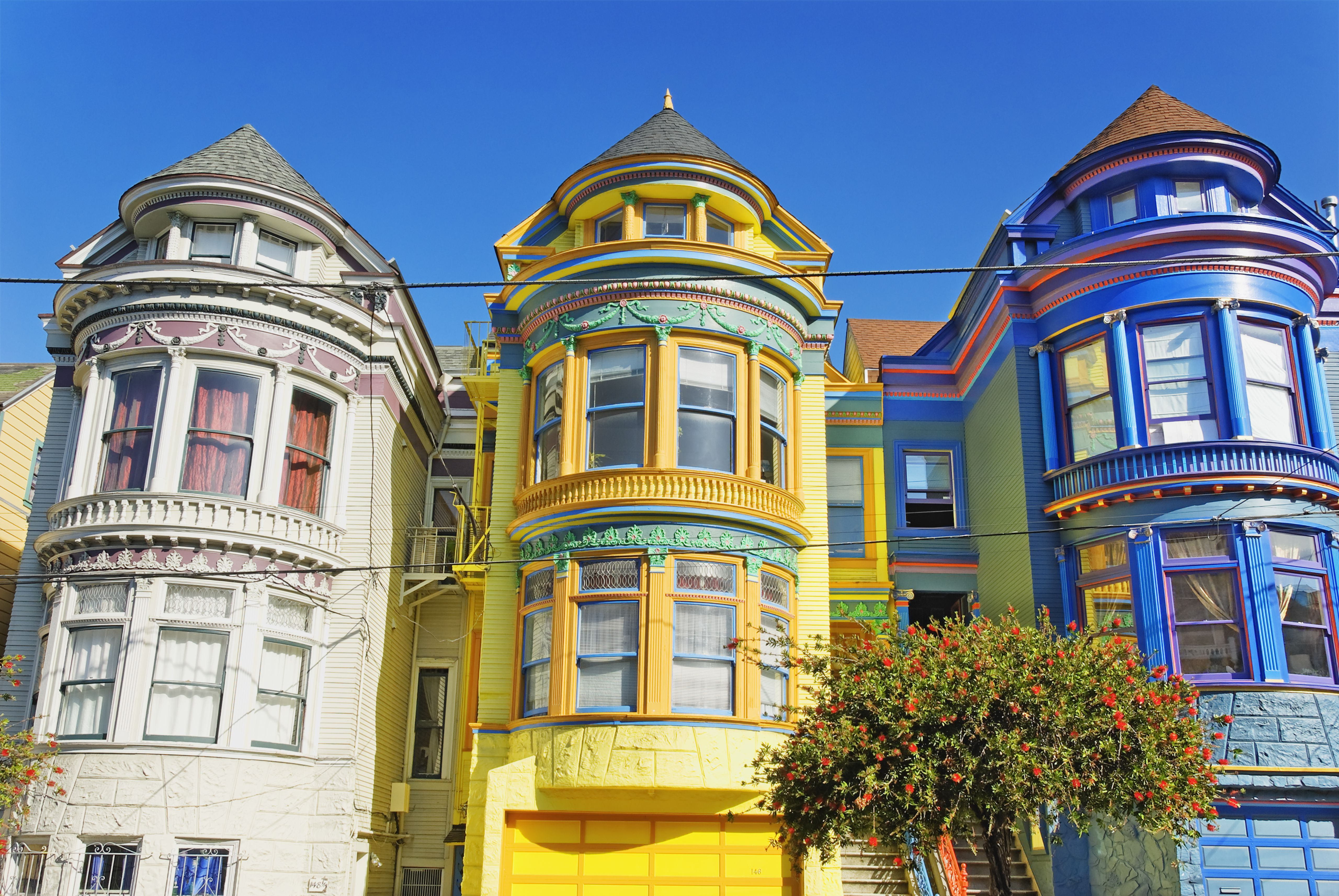 victorian francisco san exterior painted ladies architecture colorful colors paint houses row funk mitchell getty homes choose lady famous