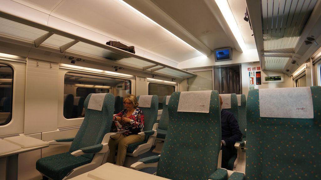 On board train in Spain