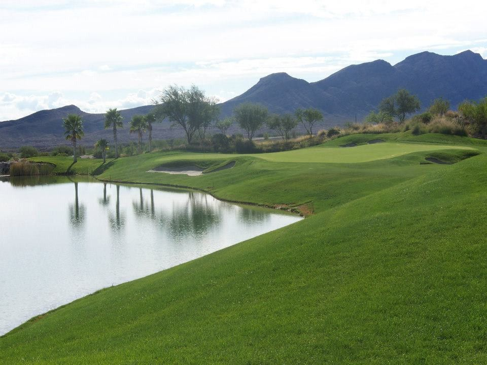 Hole 17 at Coyote Springs Golf Club