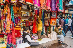 Shops in Chandni Chowk, Delhi.