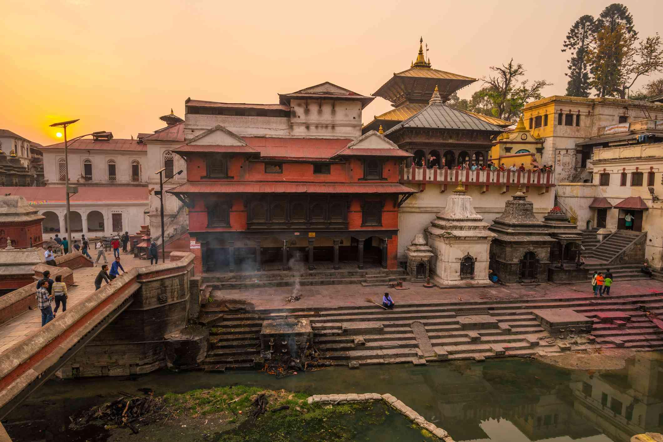 Pashupatinath Temple in Kathmandu Nepal.