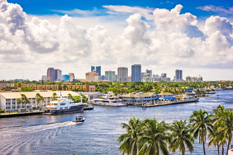 Cityscape of Fort Lauderdale Florida