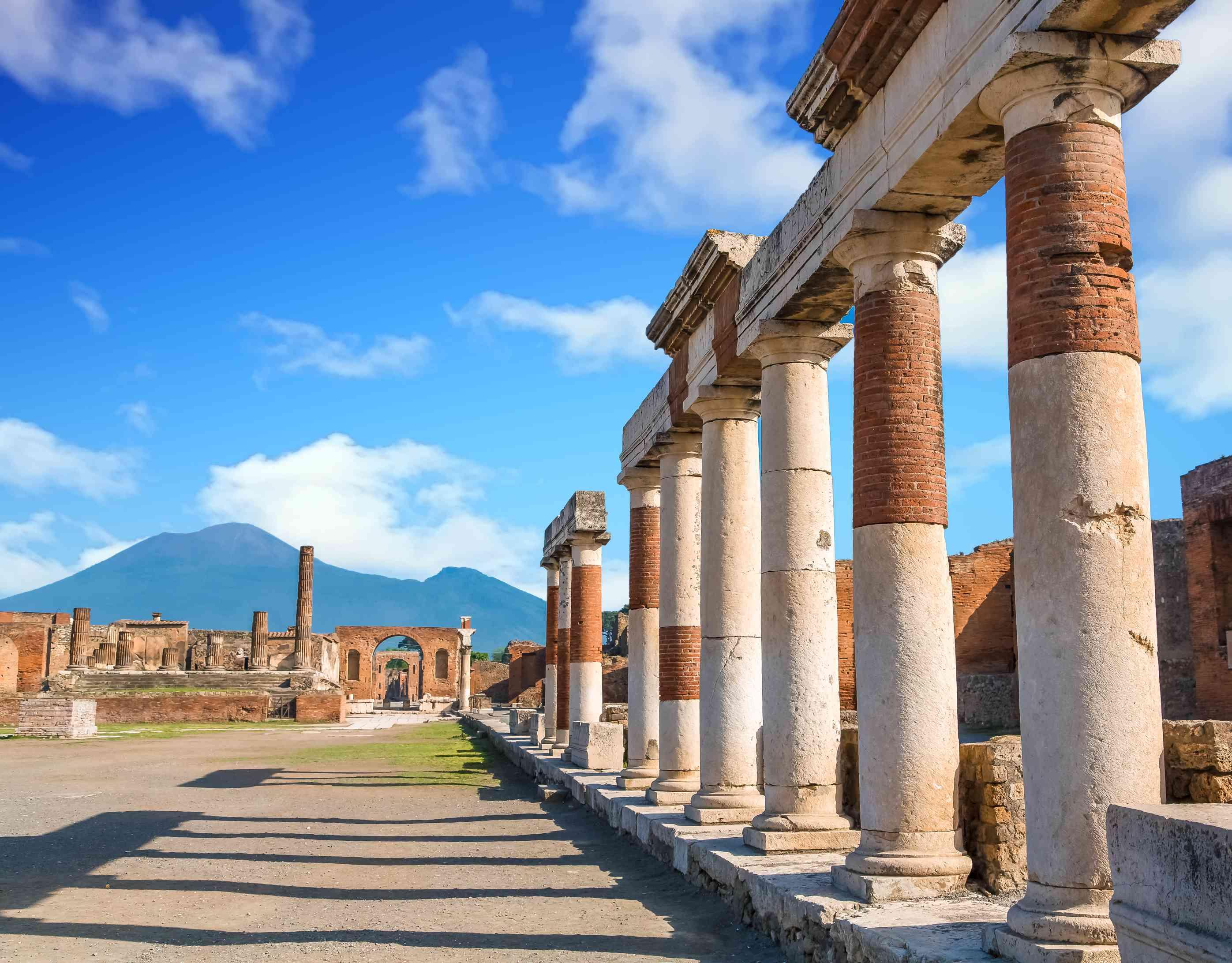 Row of Standing Columns in Pompeii