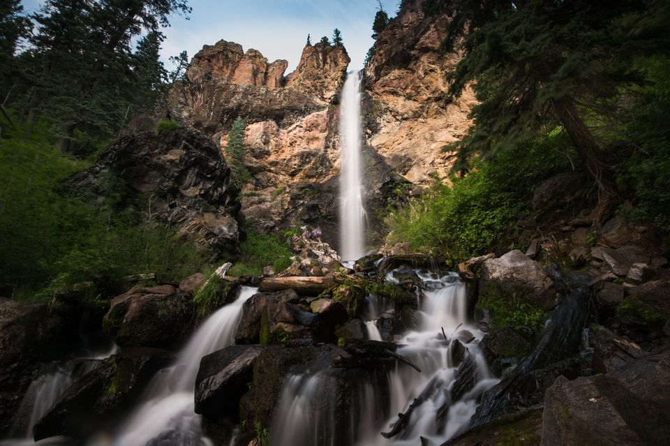 Treasure Falls is one of Colorado's many surreal waterfalls