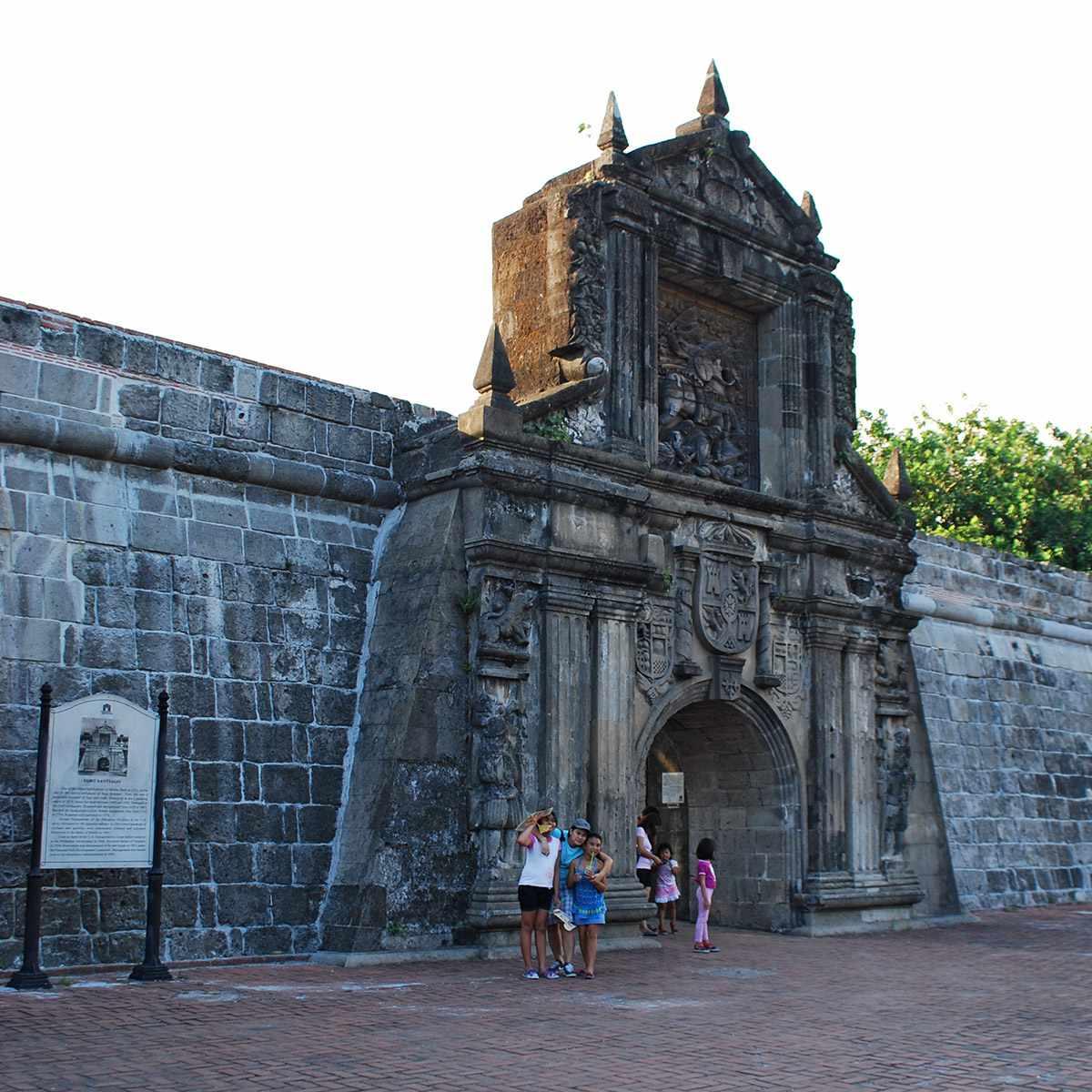 The gate of Fort Santiago, Intramuros, Manila