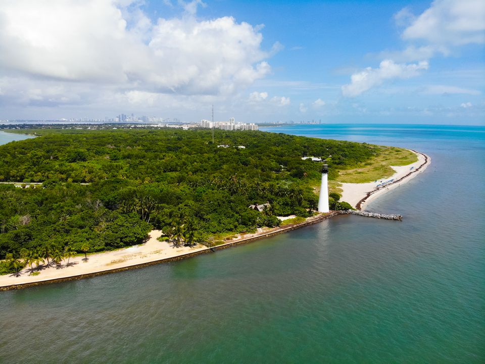 Aerial shot of Bill Baggs Cape Florida State Park