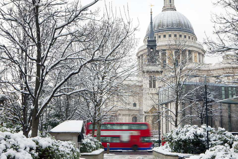 St Paul's Cathedral in the snow, London : Stock Photo View similar imagesMore from this photographerDownload comp St Paul's Cathedral in the snow, London