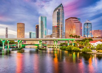 Tampa skyline in Florida